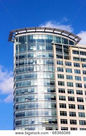 Modern Office Tower Skyscraper in Rosslyn Virginia.