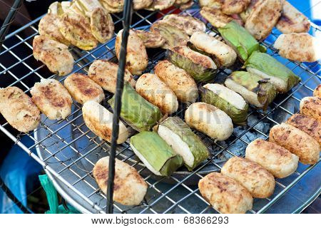 Vietnamese Banana Rice Cake