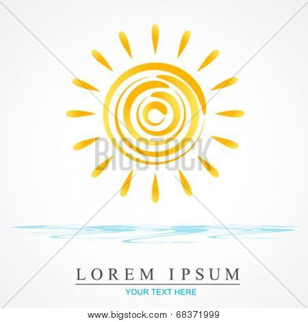 vector sun illustration