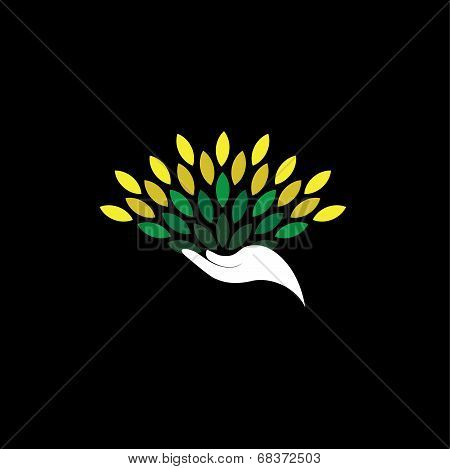 Green Design Showing Growth, Protection, Recycle - Eco Concept Vector