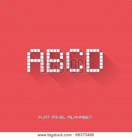 A B C D - Flat Pixel Alphabet