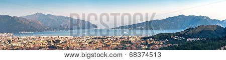 Coastline Panorama In Marmaris Icmeler