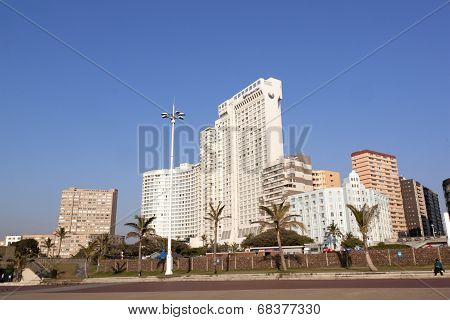 View Of Commercial And Residential Buildings Along Durban' Golden Mile
