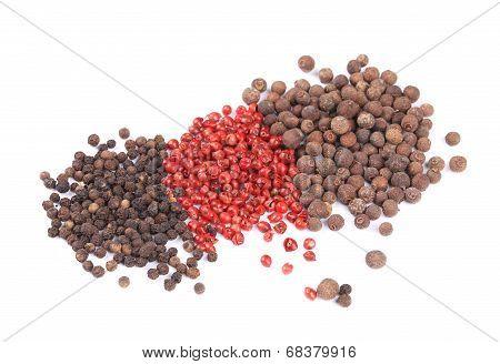 Various peppercorns.