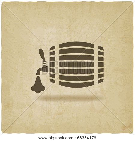 beer barrel old background