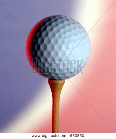 Red White Blue Golf Ball