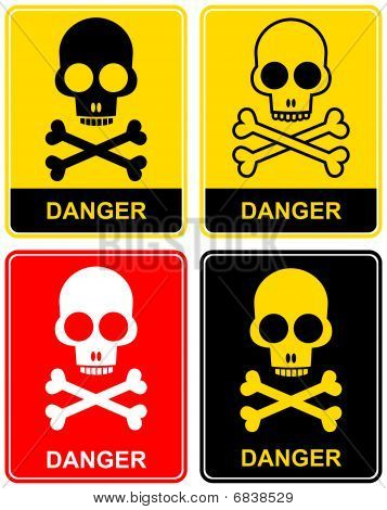 Skull - danger sign