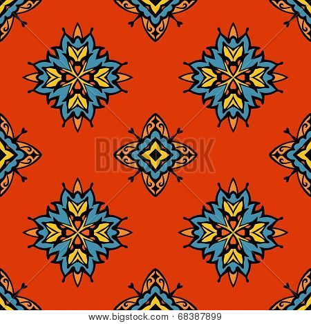 abstract tribal  seamless tiled vector design