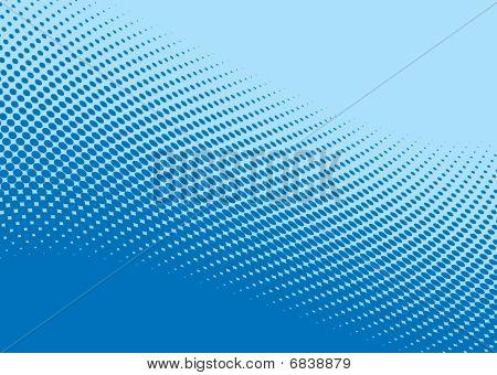 Padrão de meio-tom de onda azul