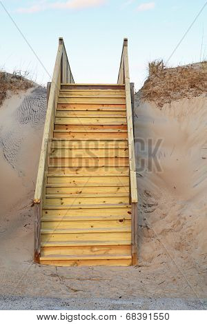 New Stairway To A Public Beach Access Vertical