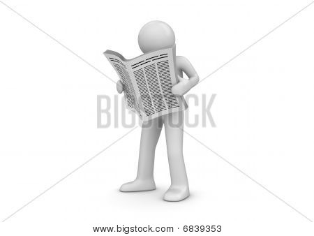 News, Man With Newspaper