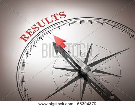 Abstract Compass Needle Pointing The Word Results