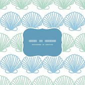 image of mother-of-pearl  - vector abstract seashels stripes frame seamless pattern background - JPG