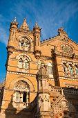 picture of british bombay  - Chhatrapati Shivaji or Victoria Terminus Train Station in Mumbai - JPG