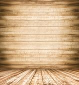 pic of dingy  - Background of old natural wooden dark empty room with messy and grungy crack beech - JPG