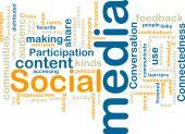 Постер, плакат: Социальные медиа Wordcloud