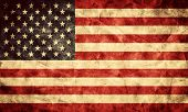 Постер, плакат: USA grunge flag Vintage retro style High resolution hd quality Item from my grunge flags collec