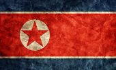 stock photo of communist symbol  - North Korea grunge flag - JPG