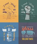 image of bundle  - Trendy Retro Vintage Insignias Bundle  - JPG