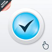 stock photo of confirmation  - Check sign icon - JPG