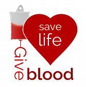 stock photo of positive negative  - Give blood save life vector illustration  - JPG