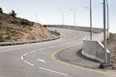 foto of jabal  - Image of a road on mountain Jebel Akhdar in Oman - JPG