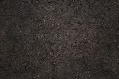 pic of plowed field  - texture in the form of plowed soil - JPG