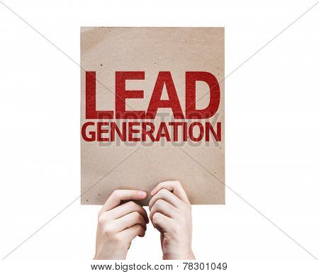 Lead Generation card isolated on white background