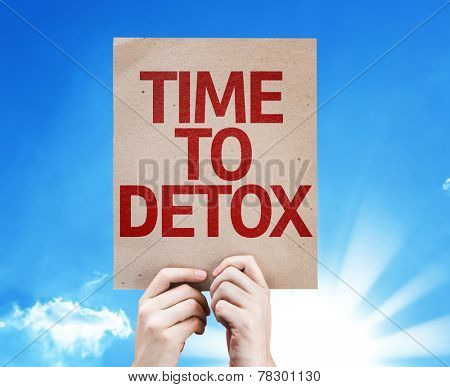 Time To Detox card with beautiful day