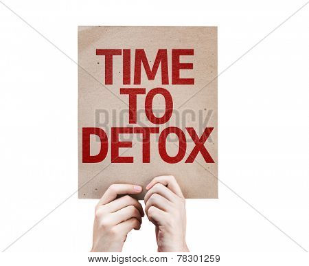 Time To Detox card isolated on white background