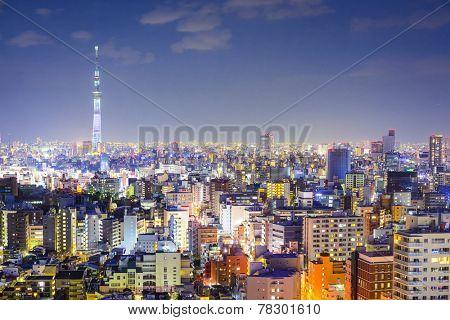 Tokyo, Japan city skyline from Bunkyo Ward.