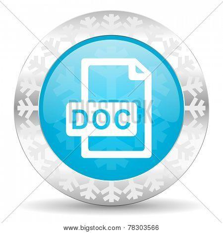 doc file icon, christmas button