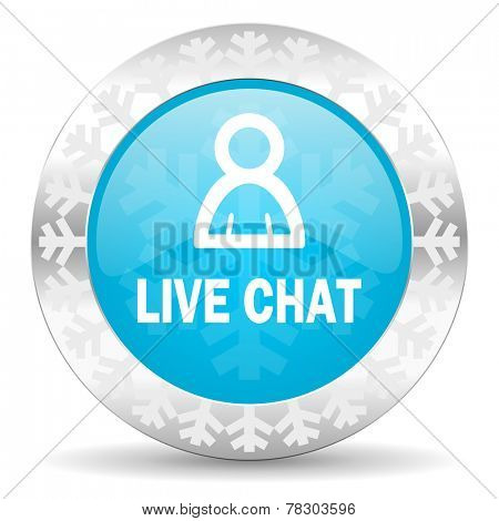 live chat icon, christmas button