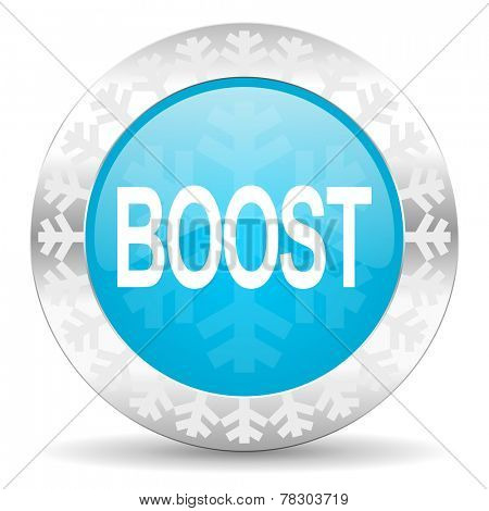 boost icon, christmas button