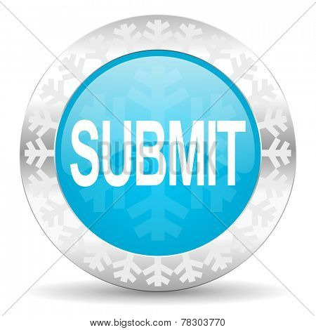 submit icon, christmas button