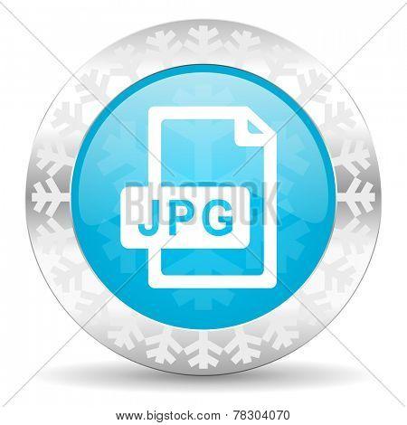 jpg file icon, christmas button