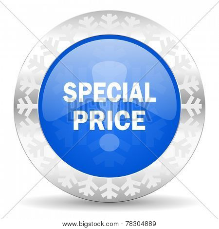 special price blue icon, christmas button