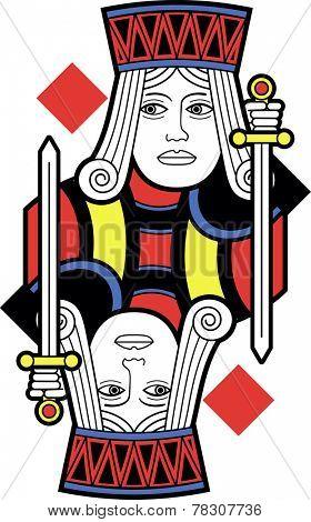 Stylized Jack of Diamonds without card version