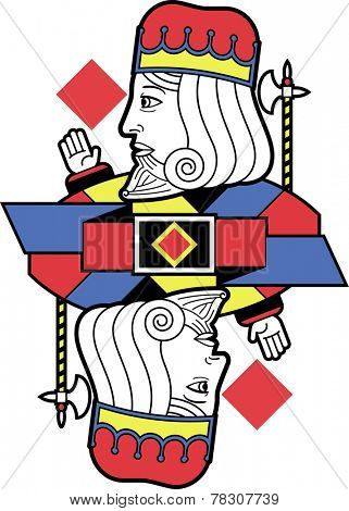 Stylized King of Diamonds without card version