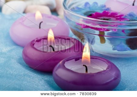 Purple Toned Candles