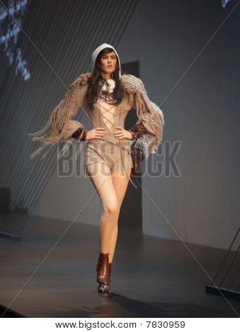 Melbourne, Australia - March 18: A Model Showcases Designs By Xxxxxxxxxxx In The 2010 L'oreal Melbou