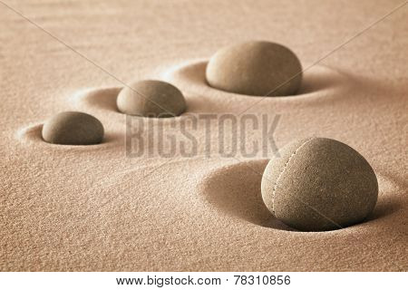 stones and sand zen garden background