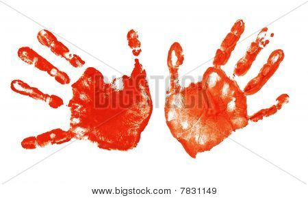 Spooky Hands Print Isolated On White