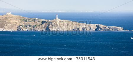 Cap Bear lighthouse, Languedoc-Roussillon, France