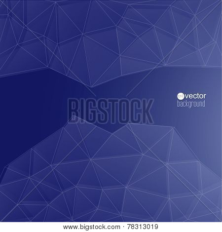 Blue abstract background with transparent mesh