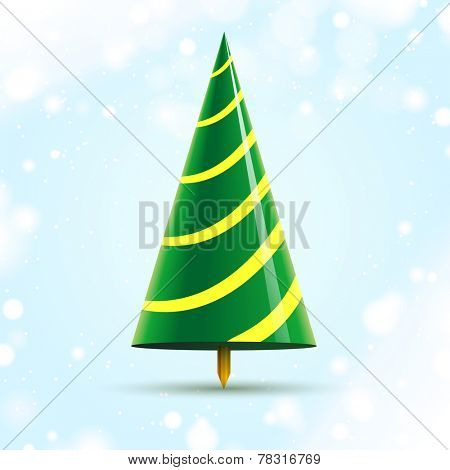 abstract cone christmas tree