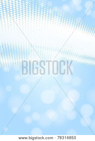 light blue background with lights and dots