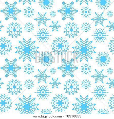 blue seamless snowflake background