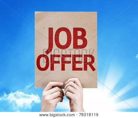 Job Offer card with beautiful day