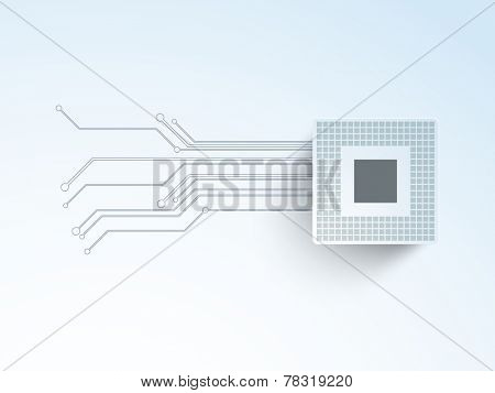 Abstract hi-tech background for business purpose on gradient background.